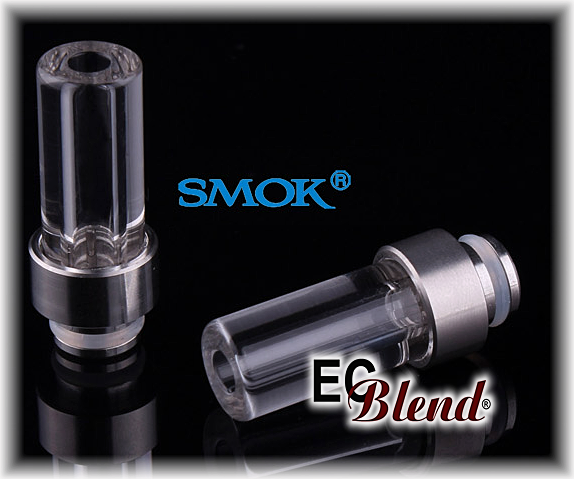 Drip Tip - SmokTech - 510/901/808 - Stainless Steel base with Pyrex at ECBlend E-Liquids