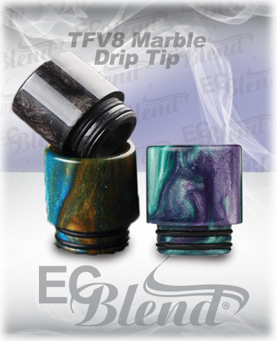 Acrylic Marble TFV8 Drip Tip at ECBlend Flavors