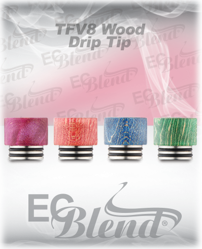TFV8 Stabilized Wood Drip Tip at ECBlend Flavors