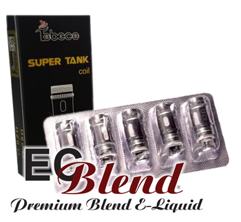 Authentic Titanium Super Tank Coils at ECBlend E-Liquid Flavors