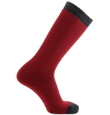 Merino Wool Mix Tube Socks in Red