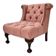 Haute House Linen Tufted Pair of Chairs