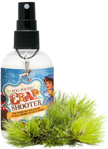 POO~POURRI™ Crap Shooter Before-You-Go® Toliet Spray 2OZ. Bottle ~ 100 Uses. Crap Shooter Scent: A Fresh Sweet Grassy Blend of Cassis, Citrus Peel and Fir Spray the Bowl First, Guns-A-Blazing. The Smell is Contained, This Stuff is Amazing!