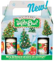 Merry Spritzmas to all and to all a Goodnight! This holiday gift set includes a 2oz Santa Claus and a 2oz Mrs. Claus