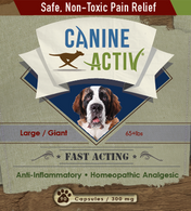 Homeopathic Canine Active Safe, Non-Toxic Pain Relief - 28 capsules