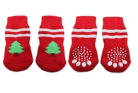 Holiday Tree Non-Skid Dog Socks