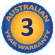 3 Year Australian Warranty