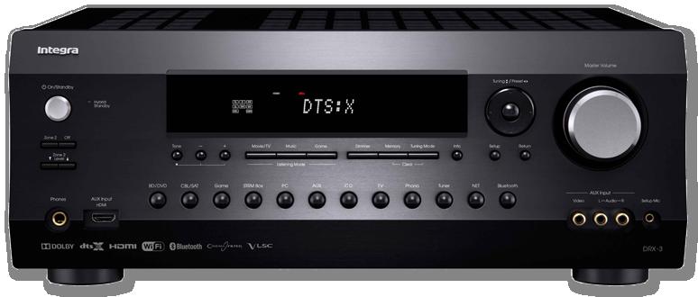 Integra DRX-3 7.2-Ch DTS:X & Dolby Atmos Network AV Receiver