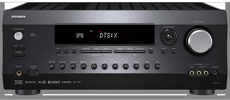 Integra DRX-4 7.2-Ch THX, DTS-X & Dolby Atmos Network AV Receiver - front view
