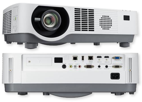 Nec p502wlg laser hybrid 5000 lumens wxga dlp projector for Small projector with high lumens
