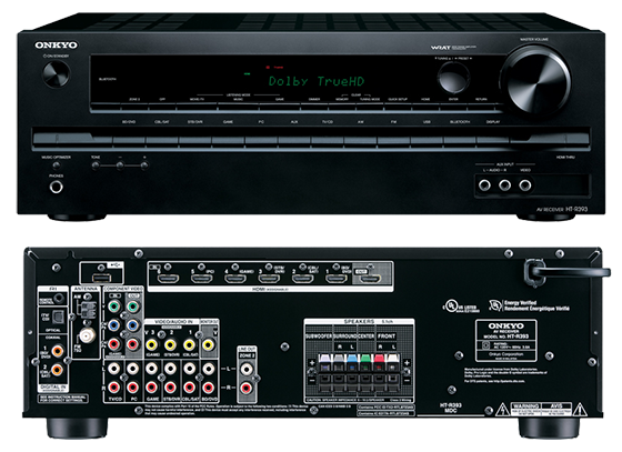Onkyo HT-S3700 5.1 home theatre receiver front & rear view