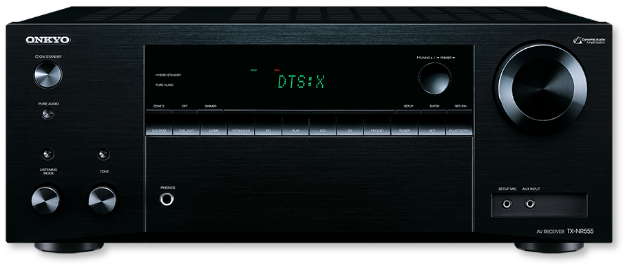 Onkyo TX-NR555 7.2-Channel DTS:X & Dolby Atmos Ready Network A/V Receiver