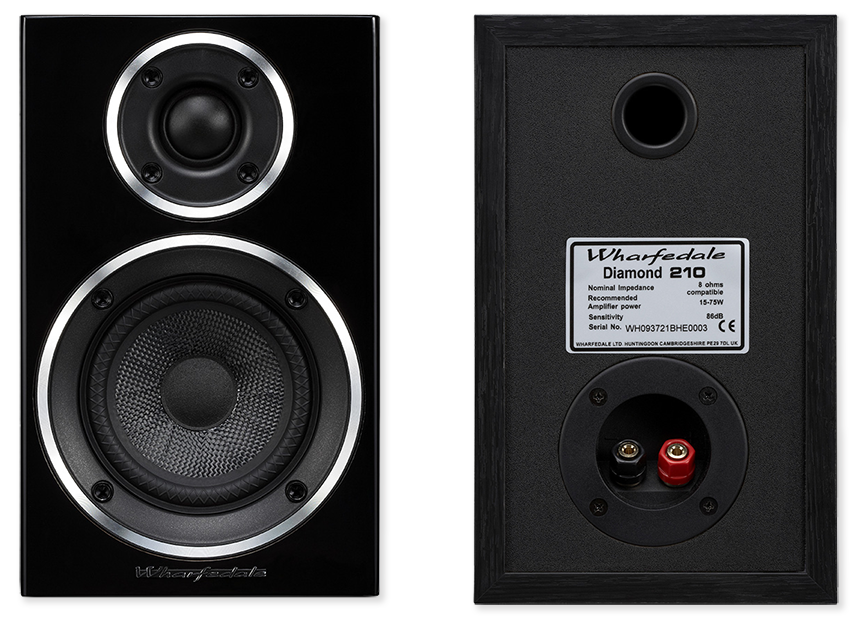 wharfedale diamond 210 bookshelf speakers pair av australia online. Black Bedroom Furniture Sets. Home Design Ideas