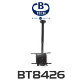 "B-Tech 15"" - 50"" Adjustable Telescopic LCD/Plasma Ceiling Mount with Tilt"
