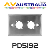 Twin XLR Stainless Steel Wallplate