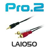 Pro2 3.5mm Plug to 2 x RCA