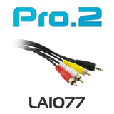 Pro2 3.5mm 4 contact 3.5mm to Video + Stereo Audio 2m
