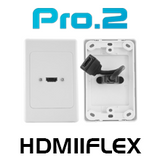 HDMI Wall Plate With Flexible 'Thin Wall' Dongle x1