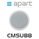 "APart CMSUB8 8"" Dual Coil Ceiling Subwoofer"