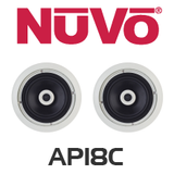 "NuVo AP18C 8"" In-Ceiling Speakers (Pair)"