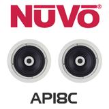 """NuVo AP18C 8"""" In-Ceiling Speakers (Pair)"""