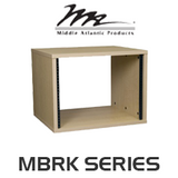 "Middle Atlantic MBRK Series 22"" Deep Maple Melamine Finish Rack with 8RU / 12RU / 16RU / 20RU"