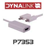 Dynalink P7353 0.5m Mobile High Definition Link (MHL) Smartphone HDMI Lead