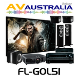 KEF Floor Standing with Integra DRX-4, Epson TW9200 Home Theatre Package