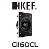 "KEF Ci Series Ci160CL 6.5"" Rectangle In-Wall / In-Ceiling Speaker (Each)"