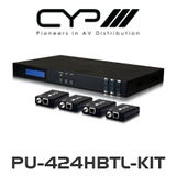 CYP 4x4 HDMI HDBaseT LITE Matrix (with 2 simultaneous HDMI outputs) including 4x PU-514L-RX Receivers