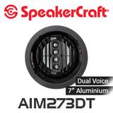 """SpeakerCraft AIM7 DT Three Series 2 7"""" Dual Voice Aluminium Woofer Pivoting In-Ceiling Speakers (Each)"""