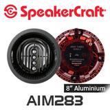 """SpeakerCraft AIM8 Three Series 2 8"""" Aluminium Woofer Pivoting In-Ceiling Speakers (Pair)"""