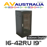 "AVA 16 - 42RU 19"" Freestanding Rack System - 600mm Deep"