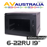 "AVA 6 - 22RU 19"" Wall Mount Cabinet - 450mm Deep"