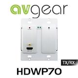 AVGear HDWP70-RX VGA, IR & HDMI Over HDBaseT Wallplate