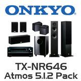 Onkyo TX-NR646 5.1.2 Pack with 4800 Floorstanding & Atmos Speakers
