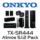Onkyo TX-SR444 5.1.2 Pack with 4800 Floorstanding & Atmos Speakers