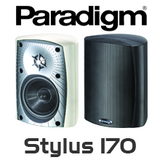 "Paradigm Stylus 170 4.5"" All Weather UV-resistant PolyGlass Sealed Outdoor Speakers (Pair)"