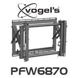 "Vogels PFW 6870 Video Pop-Out Flat Display Wall Mount (Suits 37"" - 65"")"
