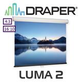 Draper XT1000E Luma2 Manual Projection Screen (Matt White)