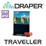Draper Traveller Manual Pull Up Portable Screen (Argent White)