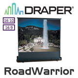 Draper RoadWarrior Manual Pull Up Gas Strut Portable Screens (Argent White)