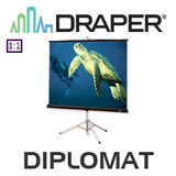 Draper Diplomat Heavy Duty Tripod Portable Screen (Matt White)