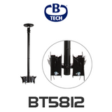 "B-Tech BT5812 Back-to-Back Up to 23"" Flat Screen Ceiling Mount with Tilt"