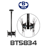 "B-Tech BT5834 Back-to-Back Up to 32"" Flat Screen Ceiling Mount with Tilt"