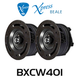 """Beale Xpress BXCW401 4"""" In-Wall / In-Ceiling Speakers (Pair)"""