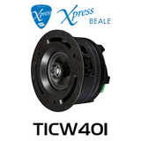 """Beale Xpress TICW401 4"""" 25 / 70 / 100V In-Wall / In-Ceiling Speaker (Each)"""
