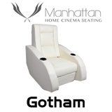 Manhattan Gotham Leather / Suede Finish Cinema Seating