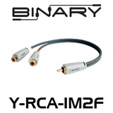 Binary Cables B3-Series 1-Male to 2-Female RCA Y-Adapter
