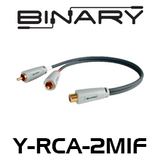 Binary Cables B3-Series 2-Male to 1-Female RCA Y-Adapter